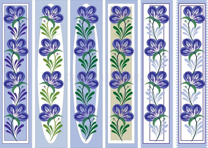 De bloemen sierstijl van referentie volkspetrykiva vector illustratie