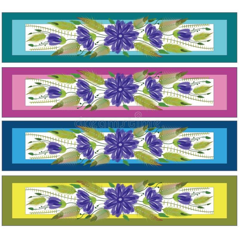 De bloemen sierstijl van referentie volkspetrykivka royalty-vrije illustratie