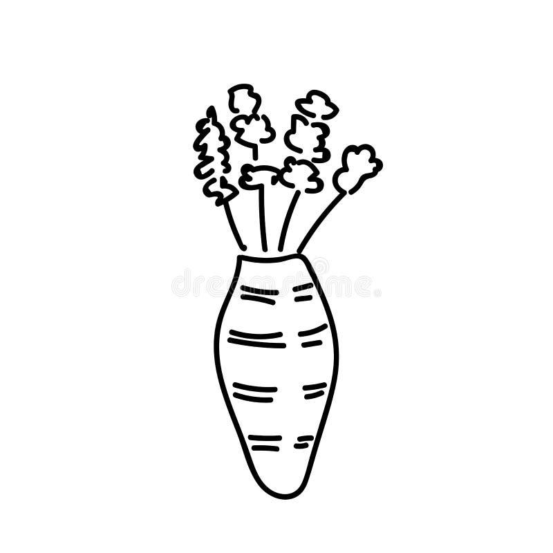 De bloemen van boeketgerber in moderne gestreepte vaas vector illustratie