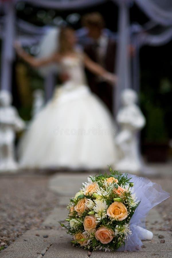 De bloemen van de bruid van Nice royalty-vrije stock afbeeldingen