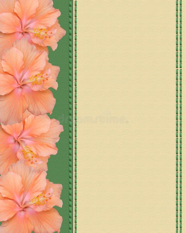De bloemen van de hibiscus op canvasachtergrond stock illustratie