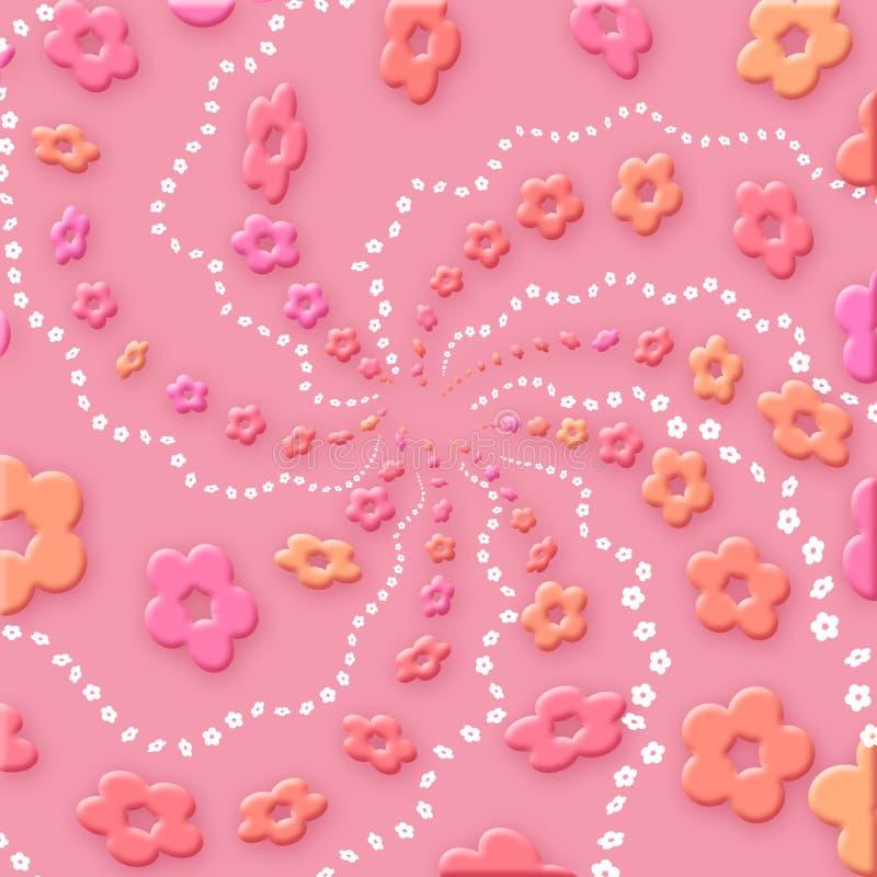 De bloemen van de kleur royalty-vrije illustratie