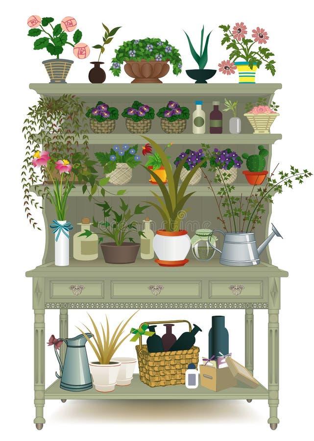 De bloemen van de pot vector illustratie