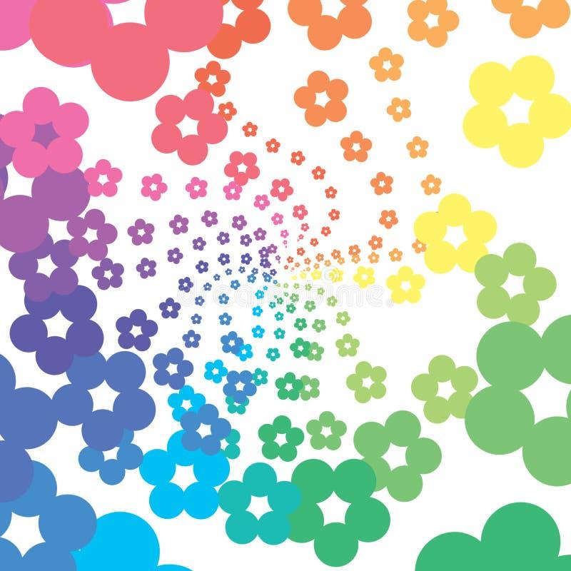 De bloemen van de regenboog stock illustratie