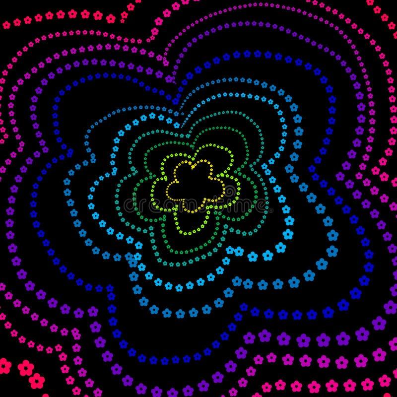 De bloemen van de regenboog vector illustratie