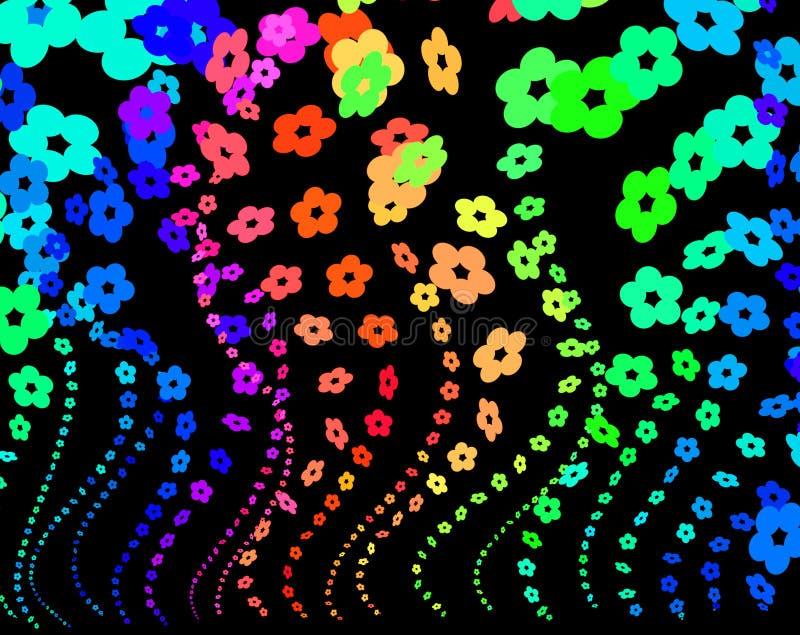 De bloemen van de regenboog royalty-vrije illustratie