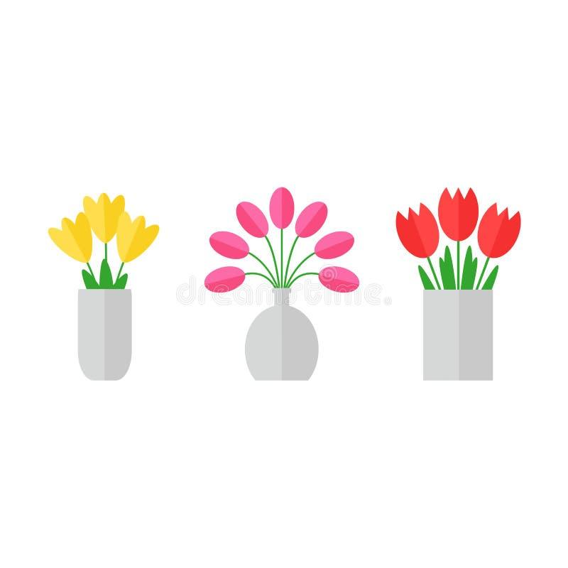 De bloemen van de tulp stock illustratie