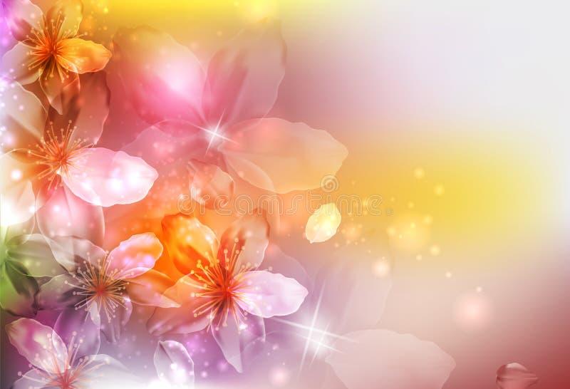 De bloemen van de zomer of van de lente royalty-vrije illustratie
