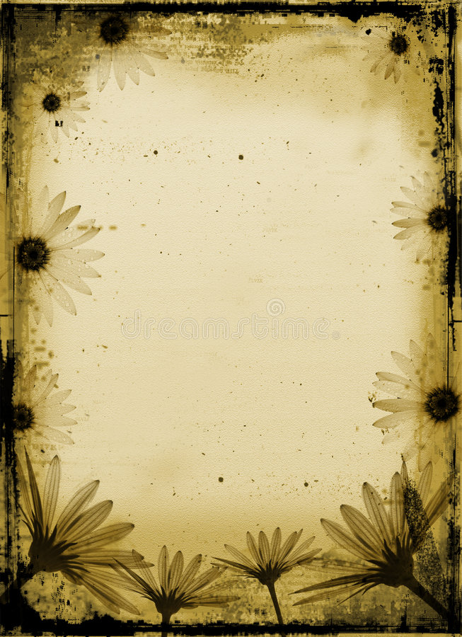 De bloemen van Grunge stock illustratie