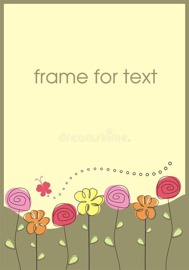 De bloemen van het frame vector illustratie