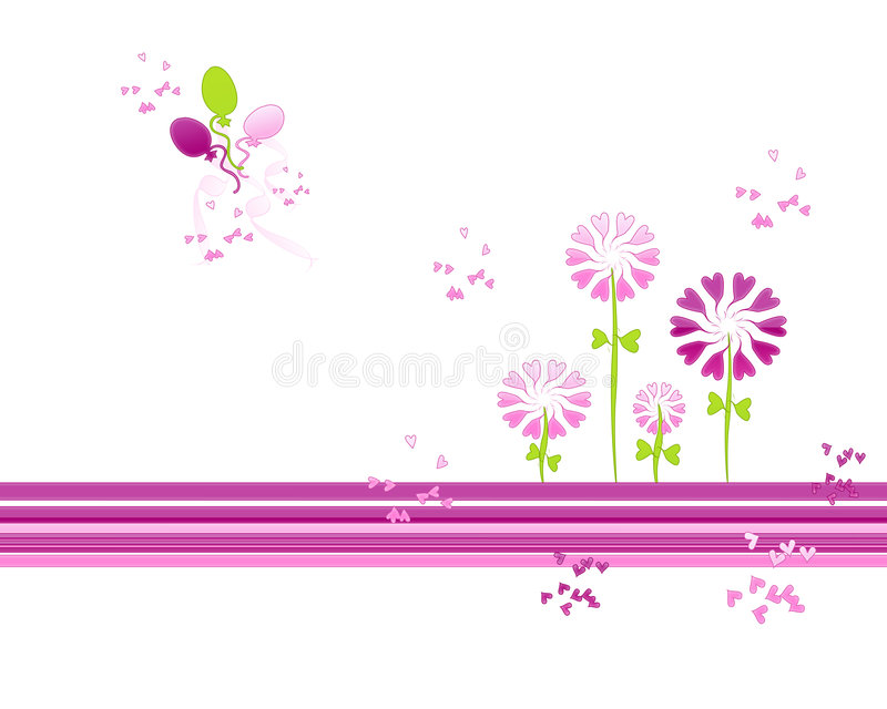 De Bloemen van het hart stock illustratie