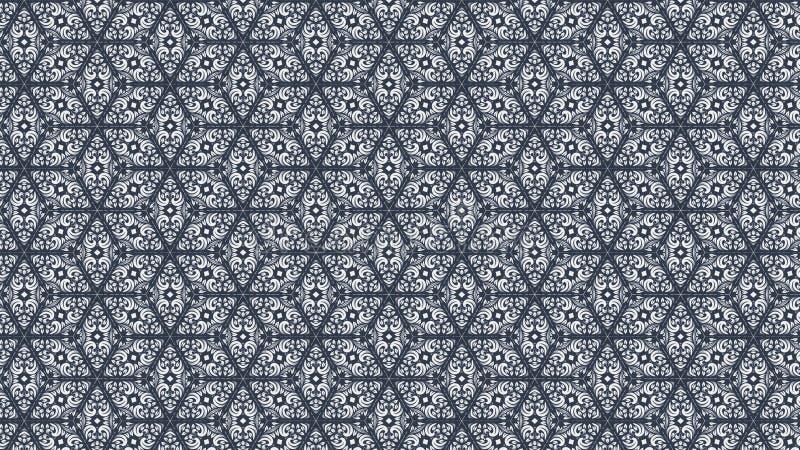 De bloemen van de het Malplaatje Mooie elegante Illustratie van het Behangpatroon Achtergrond van het de kunstontwerp grafische stock illustratie