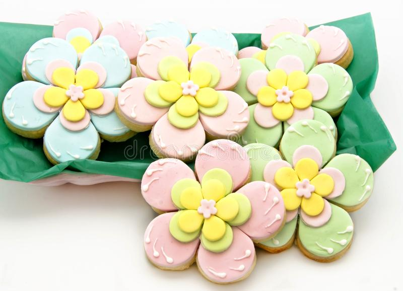 De bloemen van koekjes stock afbeeldingen