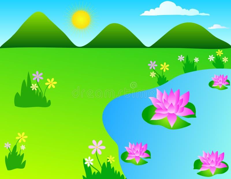De bloemen van Lotus stock illustratie
