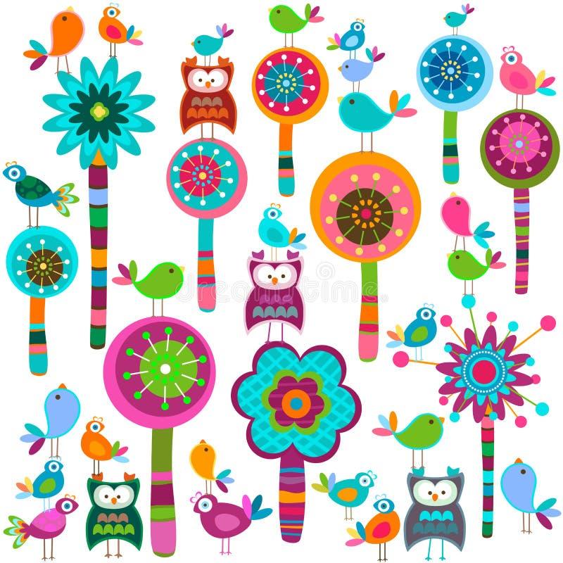 De bloemen van Whimsy vector illustratie