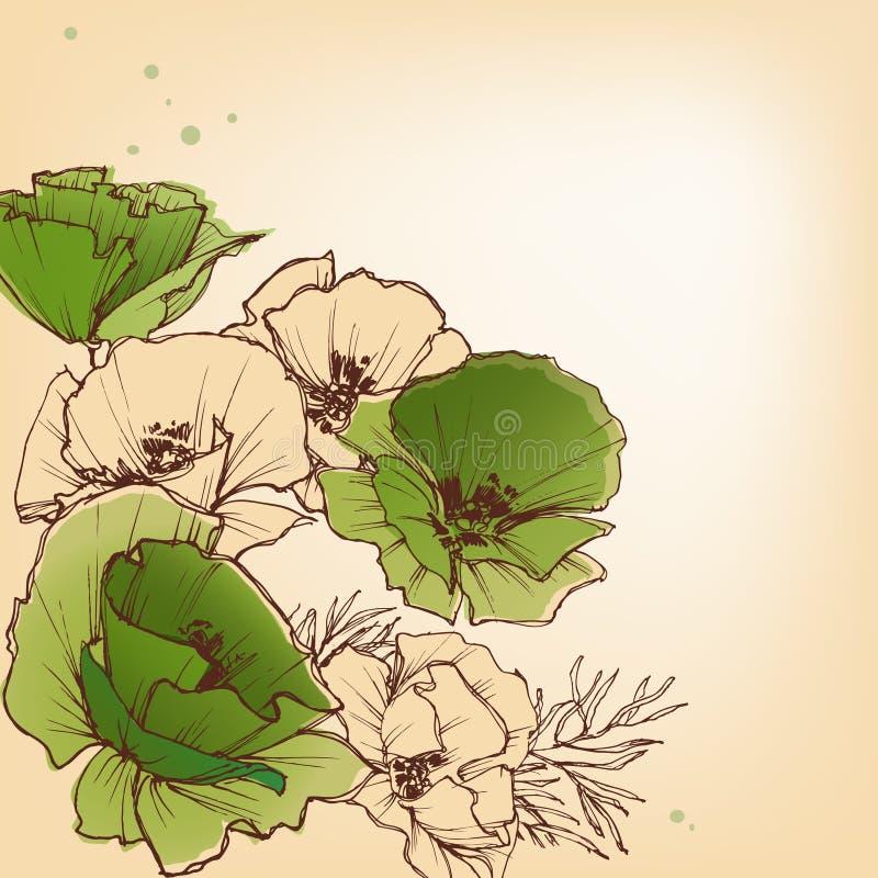 De bloemenachtergrond van de lente vector illustratie