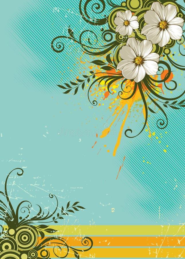 De bloemenachtergrond van de zomer royalty-vrije illustratie