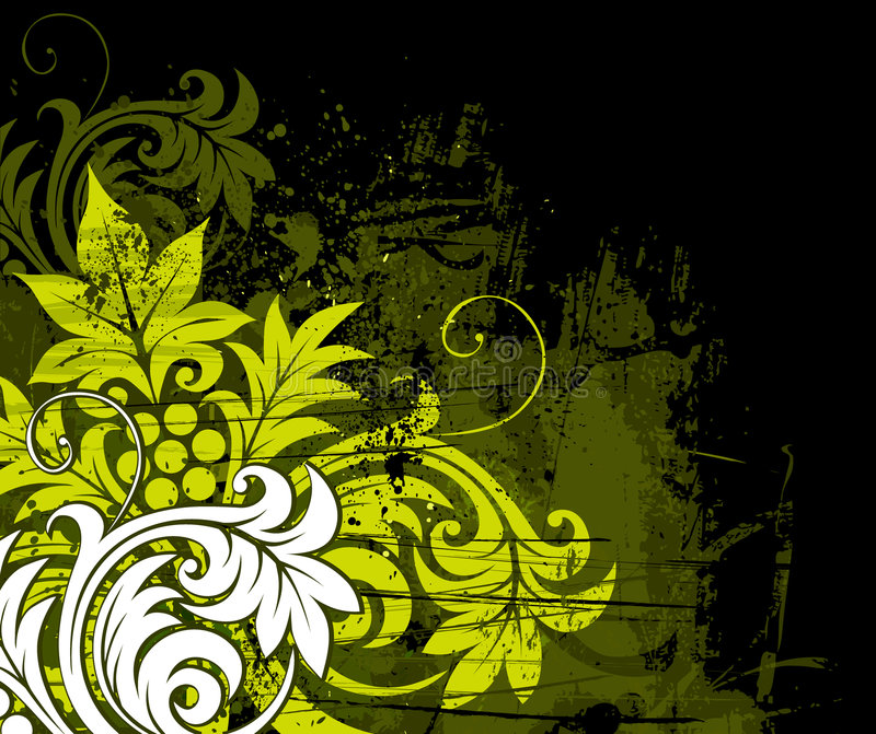 De bloemenachtergrond van Grunge stock illustratie