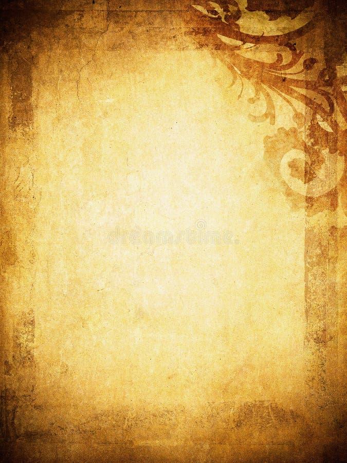 De bloemenachtergrond van Grunge met ruimte voor tekst vector illustratie