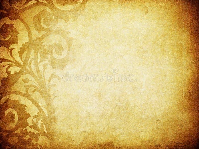 De bloemenachtergrond van Grunge met ruimte voor tekst royalty-vrije illustratie