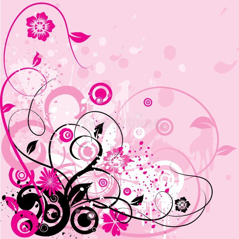 De bloemenachtergrond van Grunge, vector vector illustratie