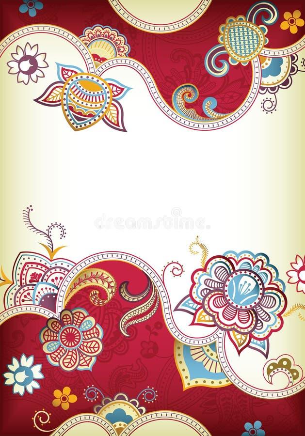 De BloemenAchtergrond van het huwelijk stock illustratie