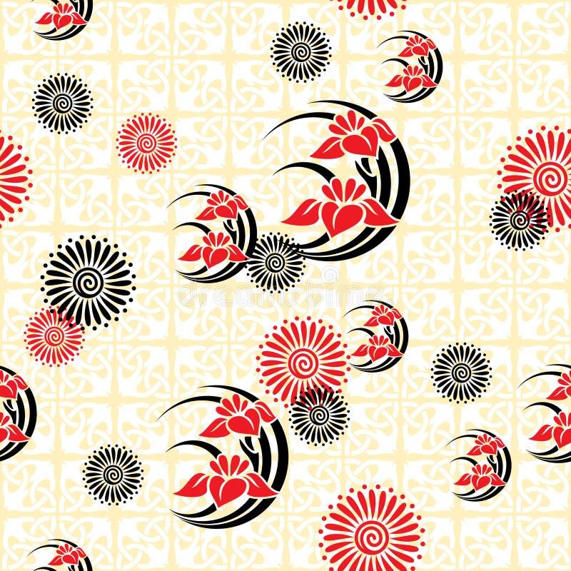 De bloemenachtergrond van Japan vector illustratie
