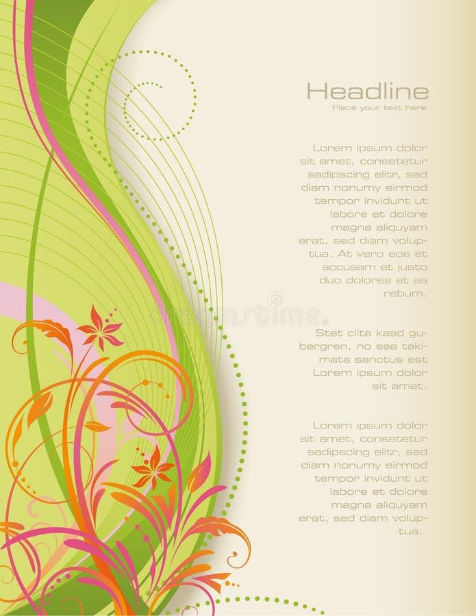 De bloemenachtergrond van Swirly stock illustratie