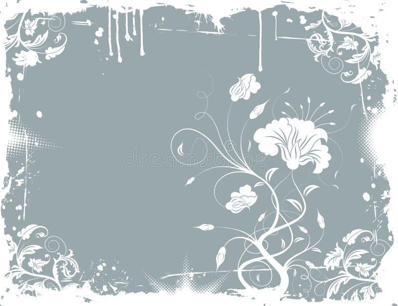De bloemenchaos van Grunge stock illustratie