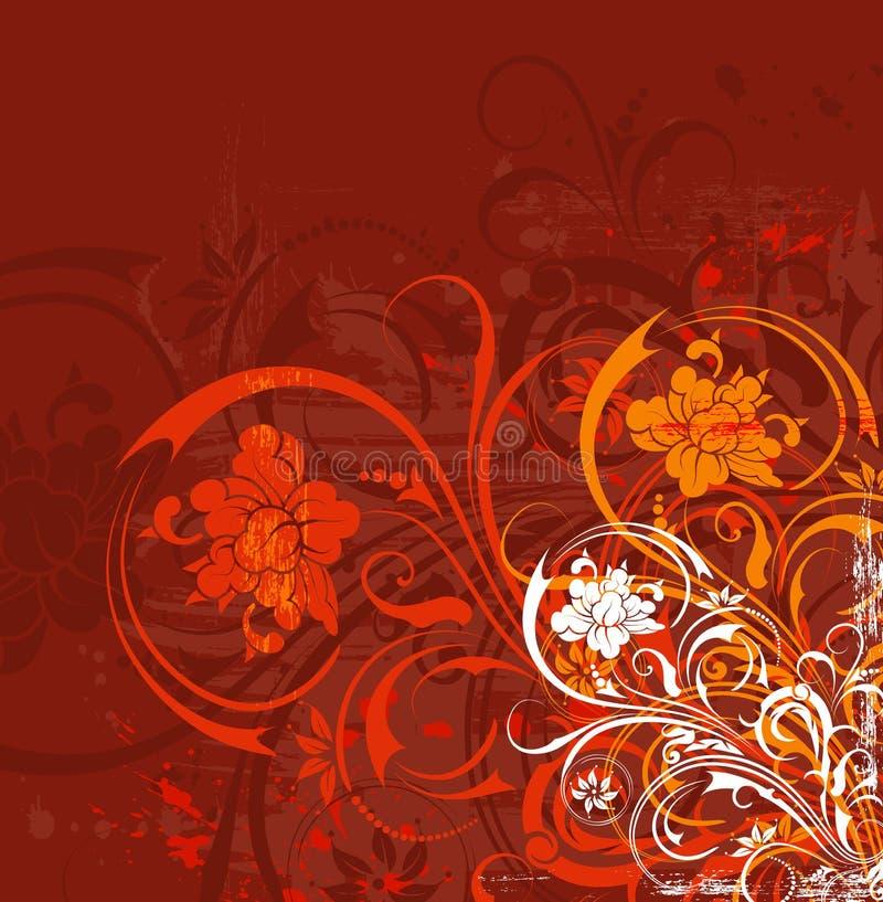 De bloemenchaos van Grunge royalty-vrije illustratie