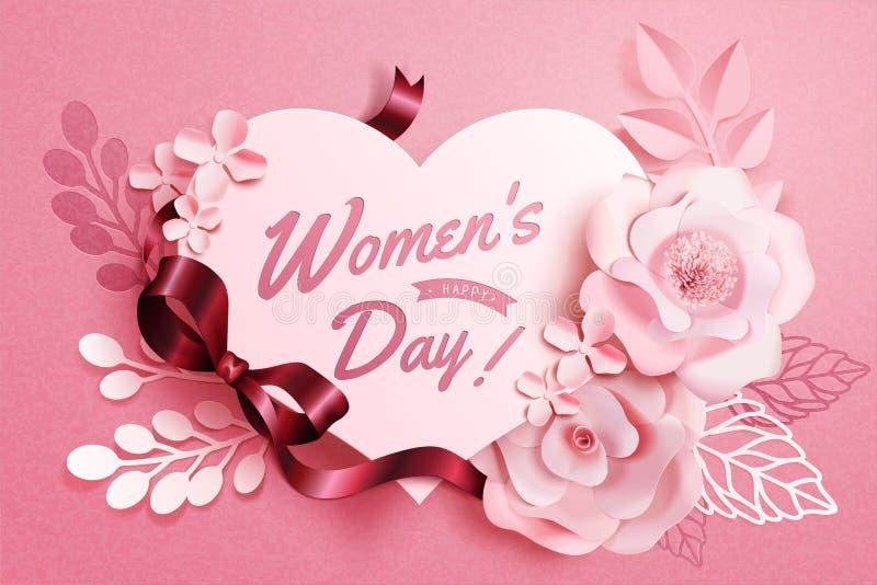 De bloemendecoratie van de vrouwen` s Dag vector illustratie