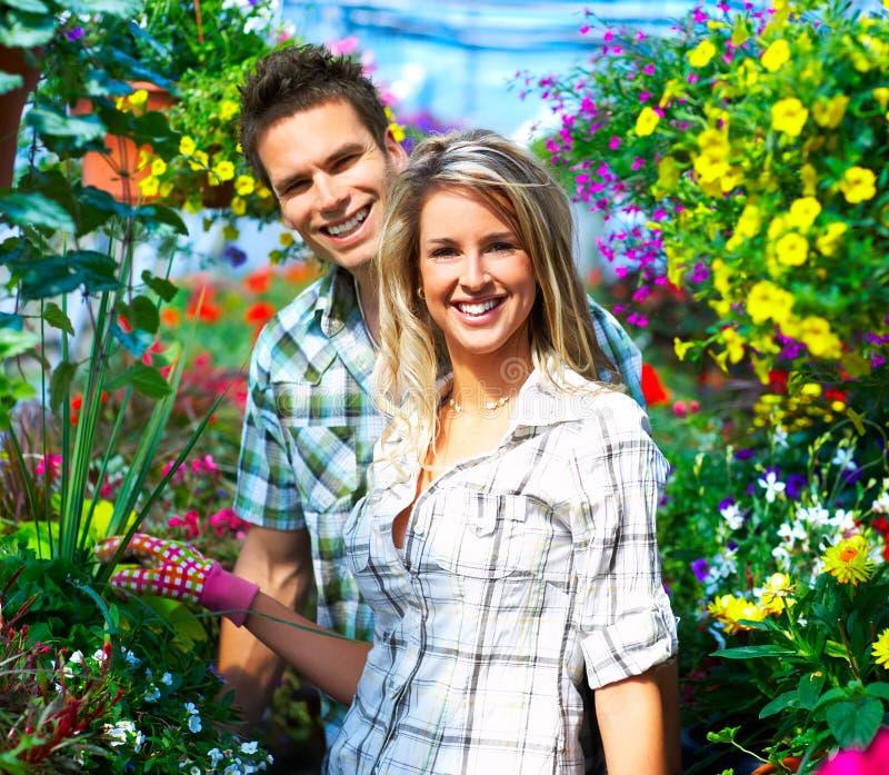 De bloemisten van mensen stock foto