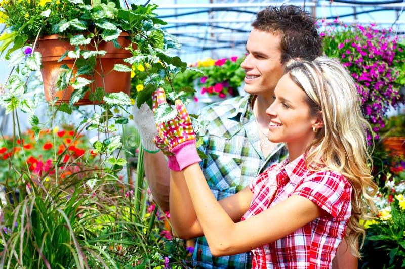 De bloemisten van mensen royalty-vrije stock afbeelding