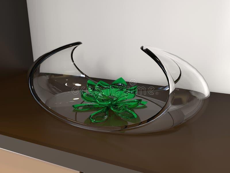 De bloemornament van de glaslotusbloem vector illustratie