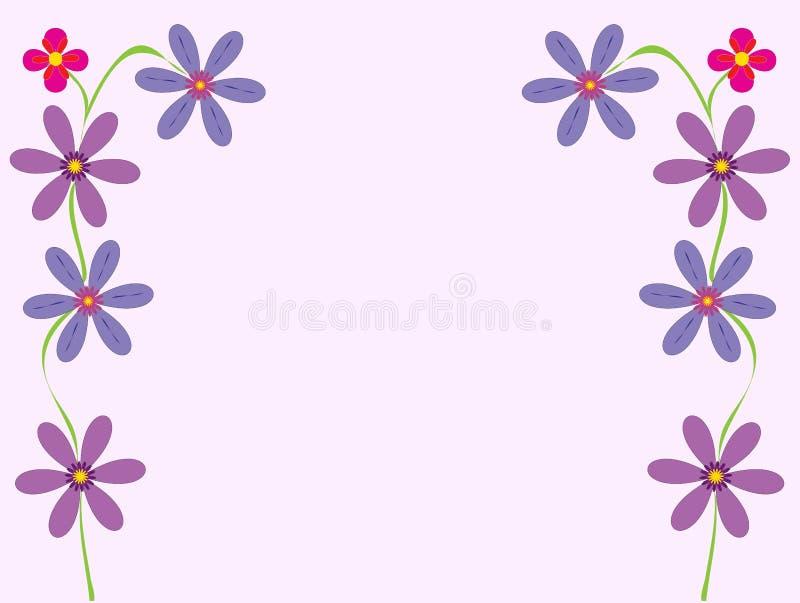 De bloemrijke Vector van de Illustratie van de Kaart van de Groet stock afbeelding