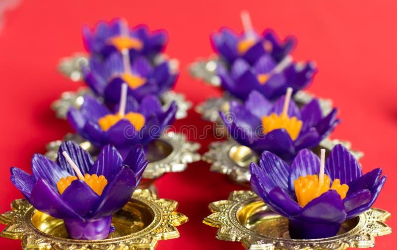 De bloemvorm van de kaarskleur voor drijvend punt royalty-vrije stock afbeelding