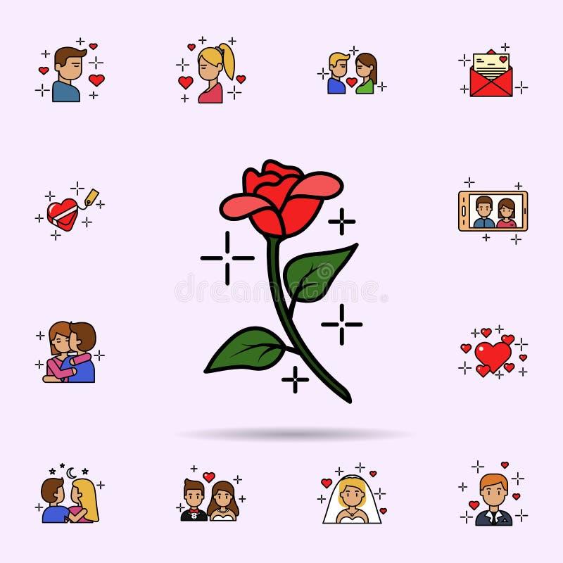 de bloesem, decoratie, bloemen, nam pictogram toe Universele reeks van liefdeverhaal voor websiteontwerp en ontwikkeling, app ont royalty-vrije illustratie