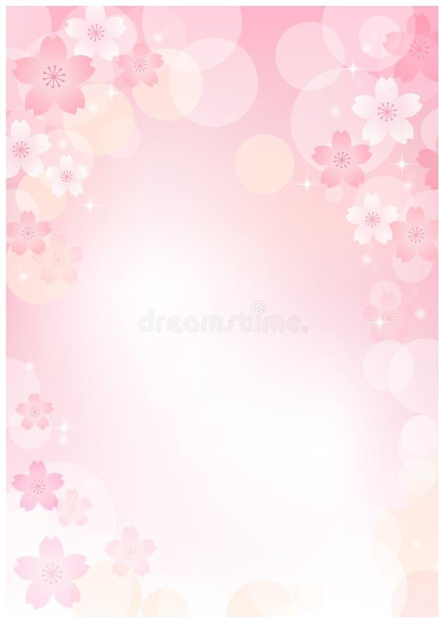 De bloesemachtergrond van de Kers van Sakura royalty-vrije illustratie