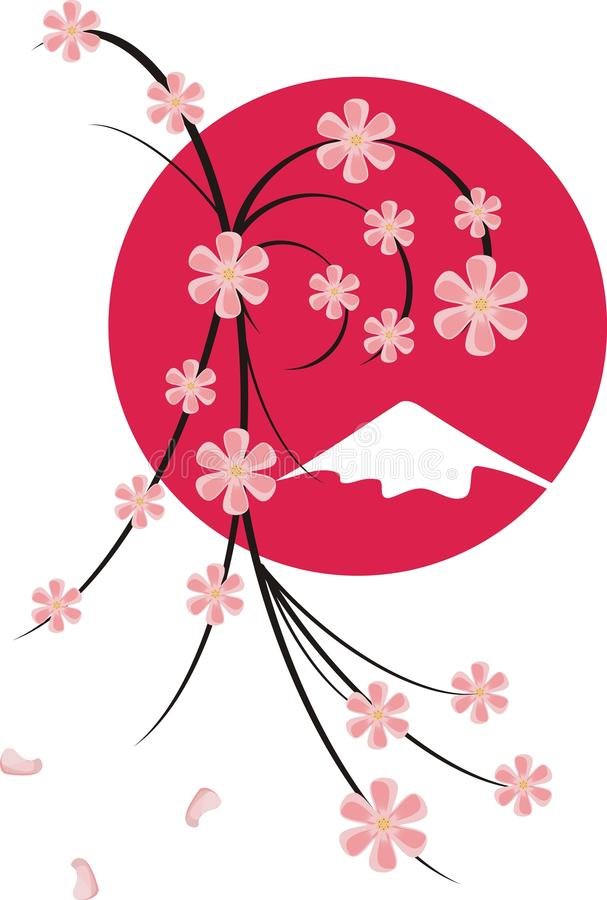 De bloesems van Sakura stock illustratie