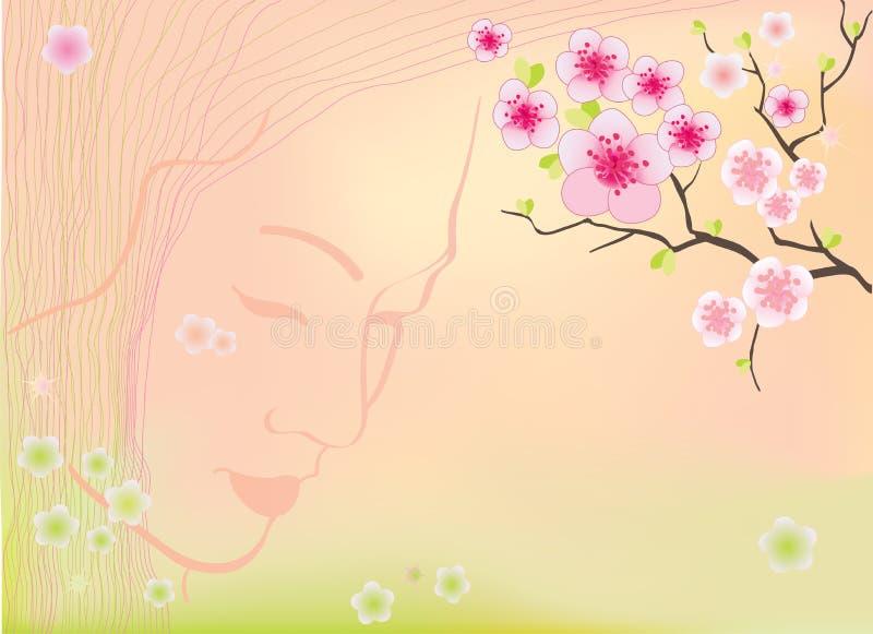 De bloesemsachtergrond van Sakura stock illustratie