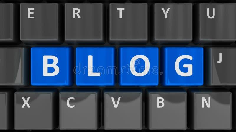 De blog van het computertoetsenbord royalty-vrije illustratie