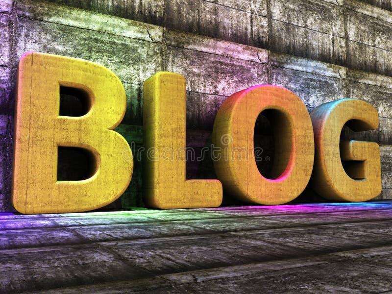 De bloghulpmiddelen betekent World Wide Web en Blogger royalty-vrije illustratie
