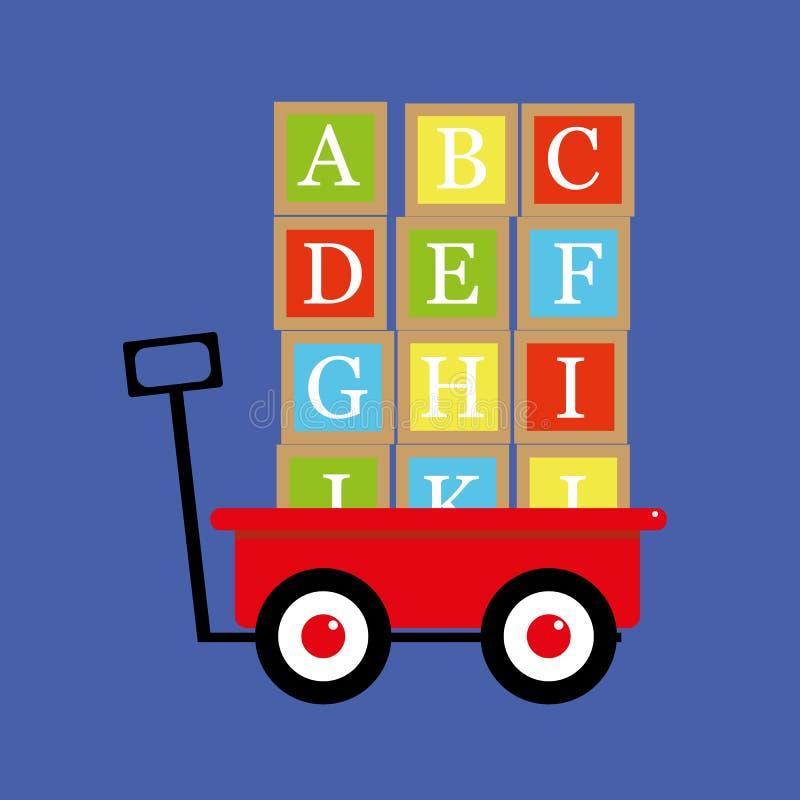 De Blokken van de alfabetbrief vector illustratie