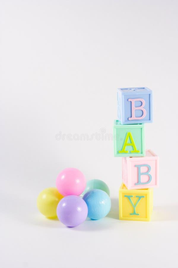 De blokken van de baby royalty-vrije stock afbeeldingen