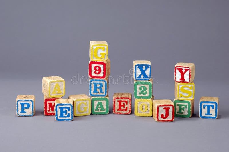 De Blokken van de Brief van kinderen royalty-vrije stock foto