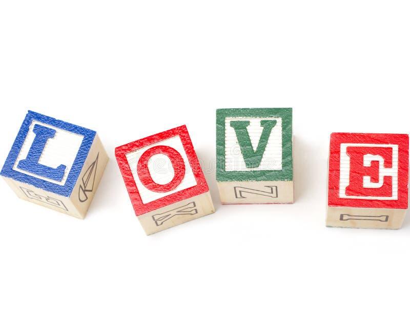 De Blokken van de liefde royalty-vrije stock foto's