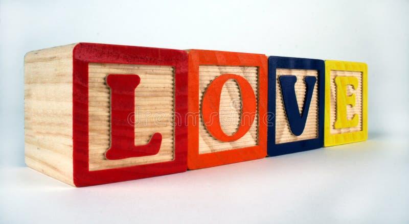 Liefdeblokken Stock Foto's