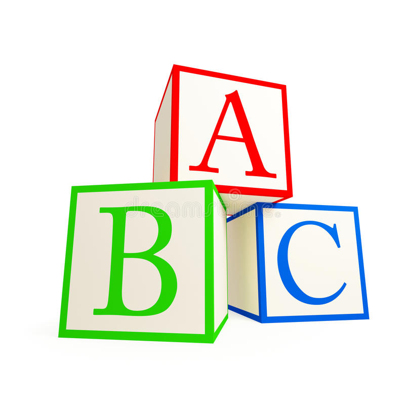 De blokken van het alfabet. vector illustratie