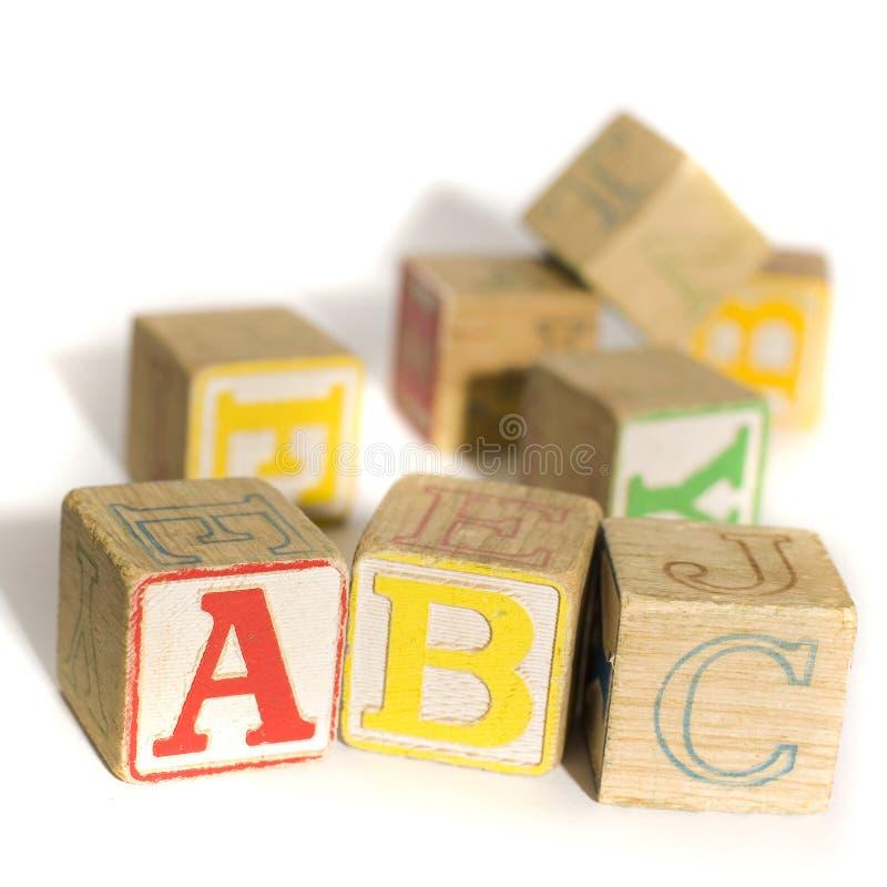 De blokken van het alfabet stock foto