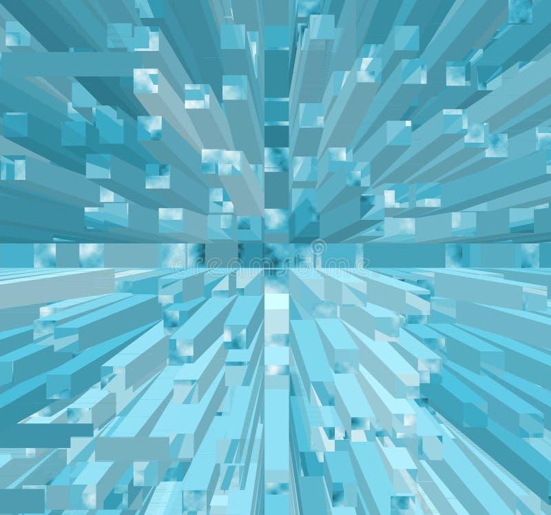 De blokken van het ijs royalty-vrije illustratie